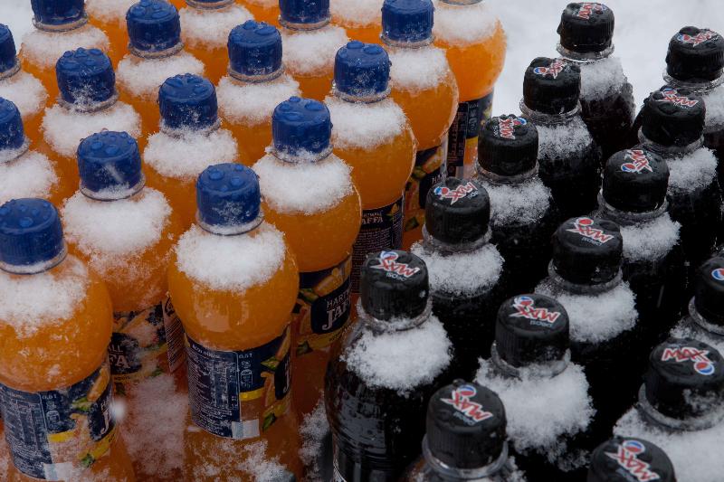 Juomat pysyi kylmänä